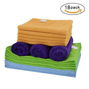 On amazon cleaning rags thmer 18 pcs microfiber cleaning cloths for kitchen car windows glass bathroom highly absorbent no fabric soft microfiber 12x16 inches
