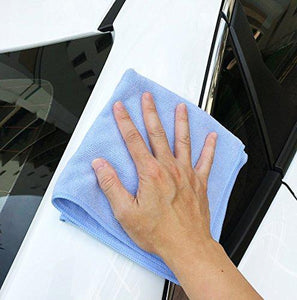 Shop here vibrawipe microfiber cloth pack of 8 pieces all blue microfiber cleaning cloths high absorbent lint free streak free for kitchen car windows