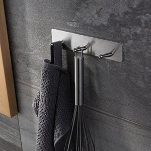 On amazon venagredos self adhesive hooks rack hooks towel hooks bath coat robe hooks bathroom kitchen hooks hand dish key stick on wall