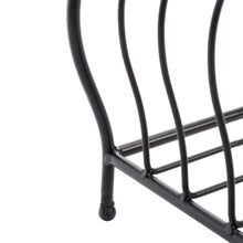 Best festnight metal kitchen dish coffee mug cup holder with 6 hooks bird cage shape meal tray holder display rack organizer stand for table counter cabinet 20 9 x 12 2 x 6 7 l x w x h black