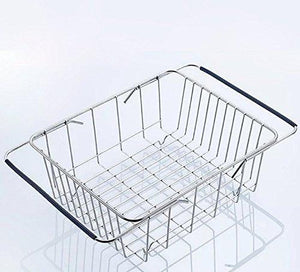 New kitchen sink 304 stainless steel drain basket wash fruit basket drain basket vegetables drainage sieve