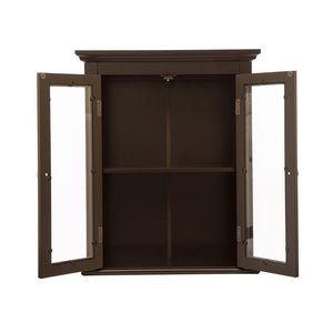 Discover the best glitzhome wooden furniture wall storage accent cabinet with double glass doors for bathroom bedroom kitchen living room espresso