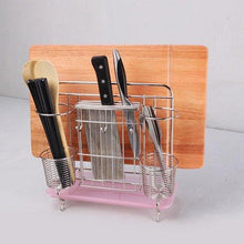 Try miniinthebox multifunction 304 stainless steel kitchen tools shelf chopsticks knife cutting board organizer rack