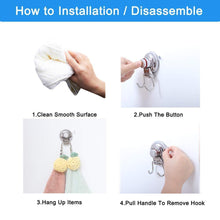 New suction cup hooks heavy duty vacuum hook wall suction hooks for flat smooth wall bathroom kitchen towel robe loofah stainless steel chrome pack of 3