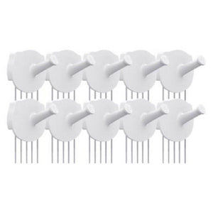 Storage organizer hotlistor reusable multipurpose wall hook white 5pcs 10pcs decorative pin stick hooks office partition panel hanger home kitchen 10 hooks