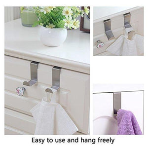 Budget friendly foccts 6pcs over the door hooks z shaped reversible sturdy hanging hooks saving organizer for kitchen bedroom cabinet drawer