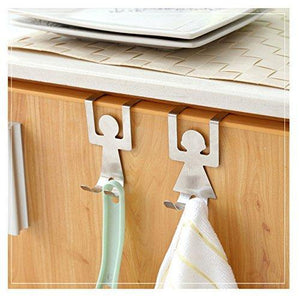 Results stainless steel home kitchen wall door holder hook hangers door hook nail free door hook rack home storage shelves kangsanli