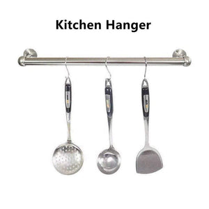 Storage organizer reekey 4 pack clothes hanger hanging tube base curtain end bracket support kitchen organizer 0 75