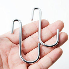 Shop here 24 pack heavy duty s hooks stainless steel s shaped hooks hanging hangers for kitchenware spoons pans pots utensils clothes bags towers tools plants