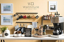 On amazon wallniture kitchen rail organizer iron hanging utensils rack with hooks frosty black 30 inch
