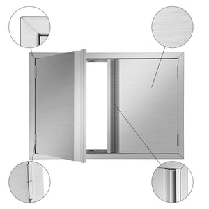 Results mornon bbq access door 304 stainless steel outdoor kitchen doors for grilling station outside cabinet barbeque grill 30 51 x 20 98inch
