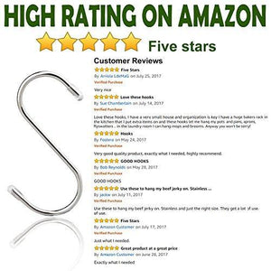 Top 20 pack s shaped hooks stainless steel metal hangers hanging hooks for kitchen work shop bathroom garden