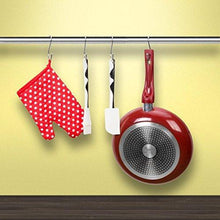 Best seller  prudance small round s shaped stainless steel hanging hooks set with 10 hooks ideal for pots pans spoons other kitchen essentials perfect for clothing