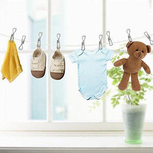 Explore 120 pack stainless steel cloth pin 2 2 inch clothesline hook for socks towel bag scarfs hang drying rack tool laundry kitchen cord wire line clothespins pegs file paper bookmark s binder metal clip