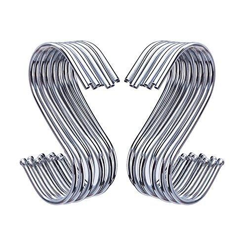 New outus s shaped hooks hanging hooks hangers for bathroom bedroom office and kitchen 20 pack