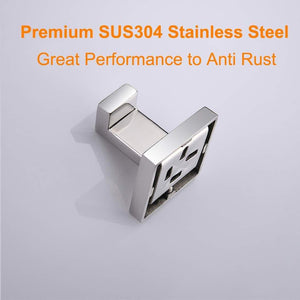 Best nolimas bath towel hook sus 304 stainless steel square clothes towel coat robe hook cabinet closet door sponges hanger for bath kitchen garage heavy duty wall mounted chrome polished finish 2pack