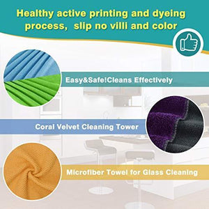 Latest cleaning rags thmer 18 pcs microfiber cleaning cloths for kitchen car windows glass bathroom highly absorbent no fabric soft microfiber 12x16 inches