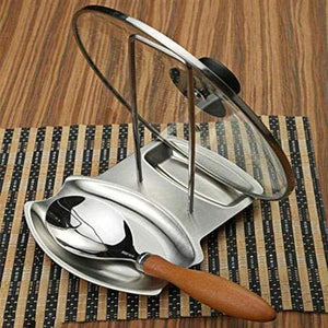 Get farmerly stainless steel pan stand pot cover rack lid spoon rest holder kitchen tool new