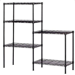 Best seller  detailorpin changeable assembly floor standing carbon steel storage rack multipurpose shelf display rack for kitchen garage bedroom storage display shelves us stock black