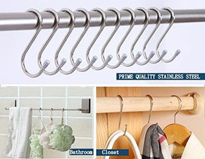 Amazon 20 pack s shaped hooks stainless steel metal hangers hanging hooks for kitchen work shop bathroom garden