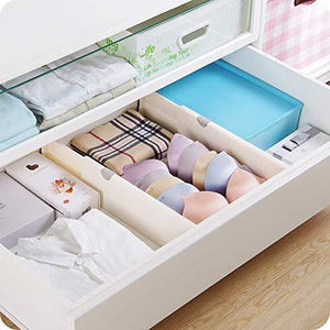 Home 4 pack adjustable drawer dividers organizer separators good grips dresser organizer for bedroom bathroom closet baby drawer desk kitchen storage