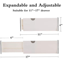 Featured normei drawer dividers 11 17 expandable adjustable dresser drawer organizers divider for clothes silverware and utensils fit kitchen bedroom bookcase baby drawer with instructions 8 pack