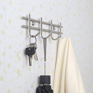 Shop for urevised wall mounted coat rack hooks heavy duty wall hooks rack robe hooks metal decorative hook rail for bathroom kitchen office entryway hallway closet hooks brushed finish