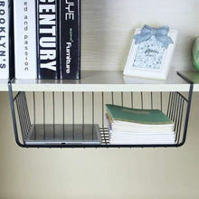 Storage under shelf basket 4 pack black wire rack slides under shelves for storage space on kitchen pantry desk bookshelf cupboard
