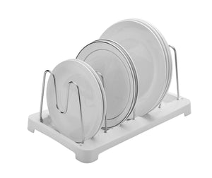 Related 2 pack adjustable pot lid holder plate rack pan and pot organizer for kitchen cabinet sus304 stainless steel rust proof 1