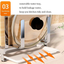 Save on multifunctional cutting board and knife holder stainless steel organizer with anti slippery mat and bottom removable water tray kitchen utensils storage drying drainer rack for knives pot cover fork