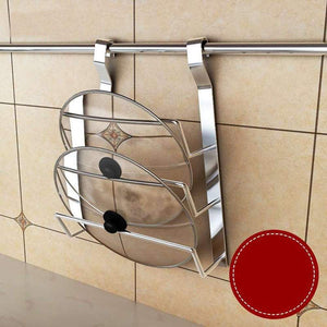 Best pot lid holder rack kitchen cupboard storage organizer wall mounted kitchen panty holderss
