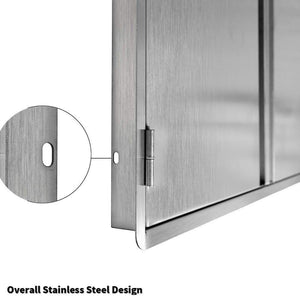 The best ciogo outdoor kitchen cabinets 31x21 inch double wall bbq doors 304 all brushed stainless steel double bbq access doors for bbq island bbq grill outdoor kitchen or outside cabinet built in