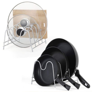Budget friendly nex 2 pack kitchen cabinet pan and pot lid organizer rack holder