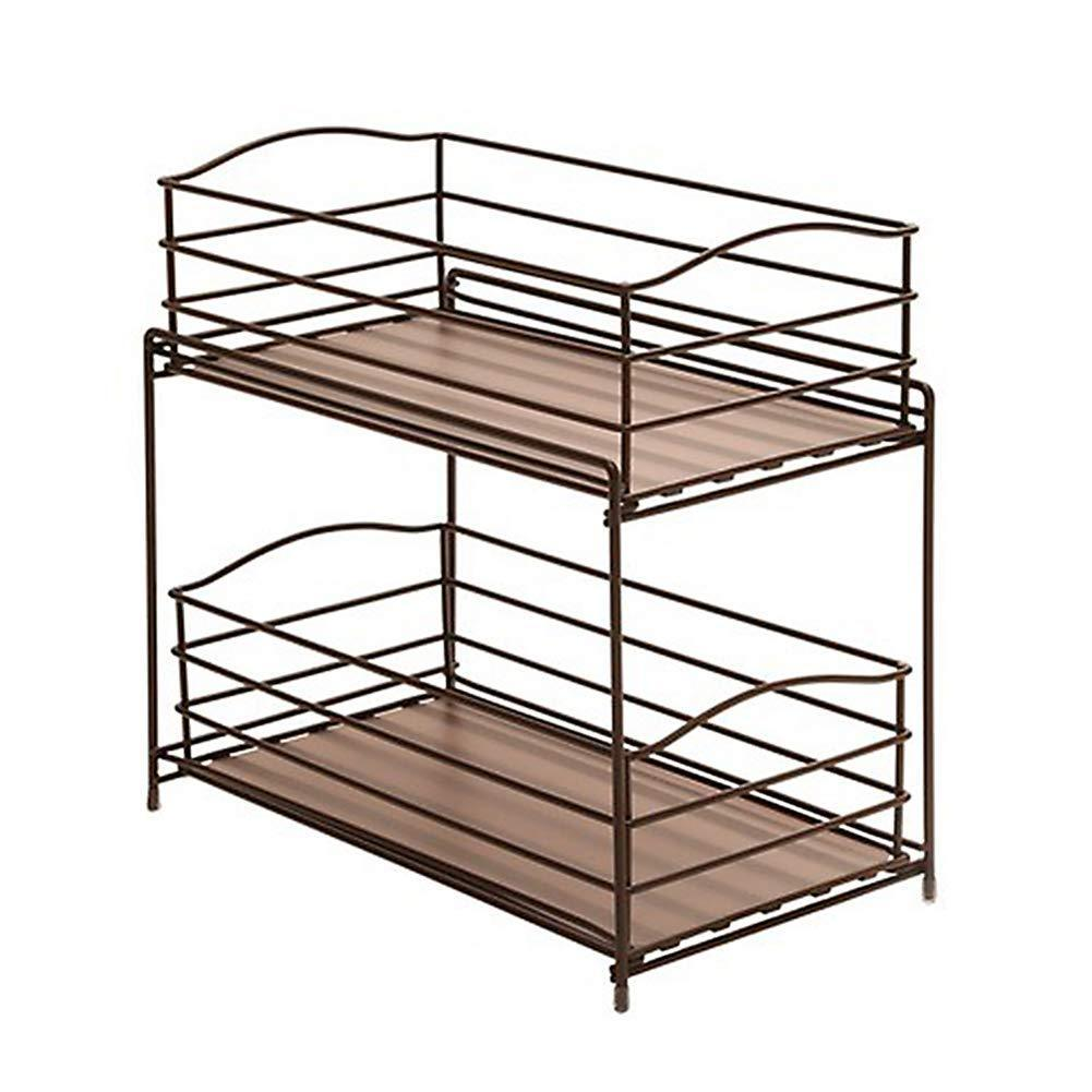 Buy seville classics 2 tier sliding basket drawer kitchen counter and cabinet organizer bronze