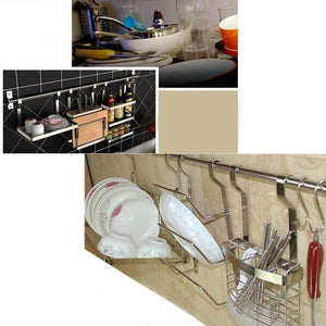 Amazon pot lid holder rack kitchen cupboard storage organizer wall mounted kitchen panty holderss