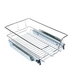 Great kitchen sliding cabinet organizer pull out chrome wire storage basket drawer pull out cabinet shelf for kitchen cabinets cupboards 20 3 17 35 3