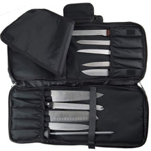 Discover the chef knife case bag 3 compartments 20 slots for knives kitchen tools 10 zip pockets for tablet notebooks utensils executive chefs culinary students gift black