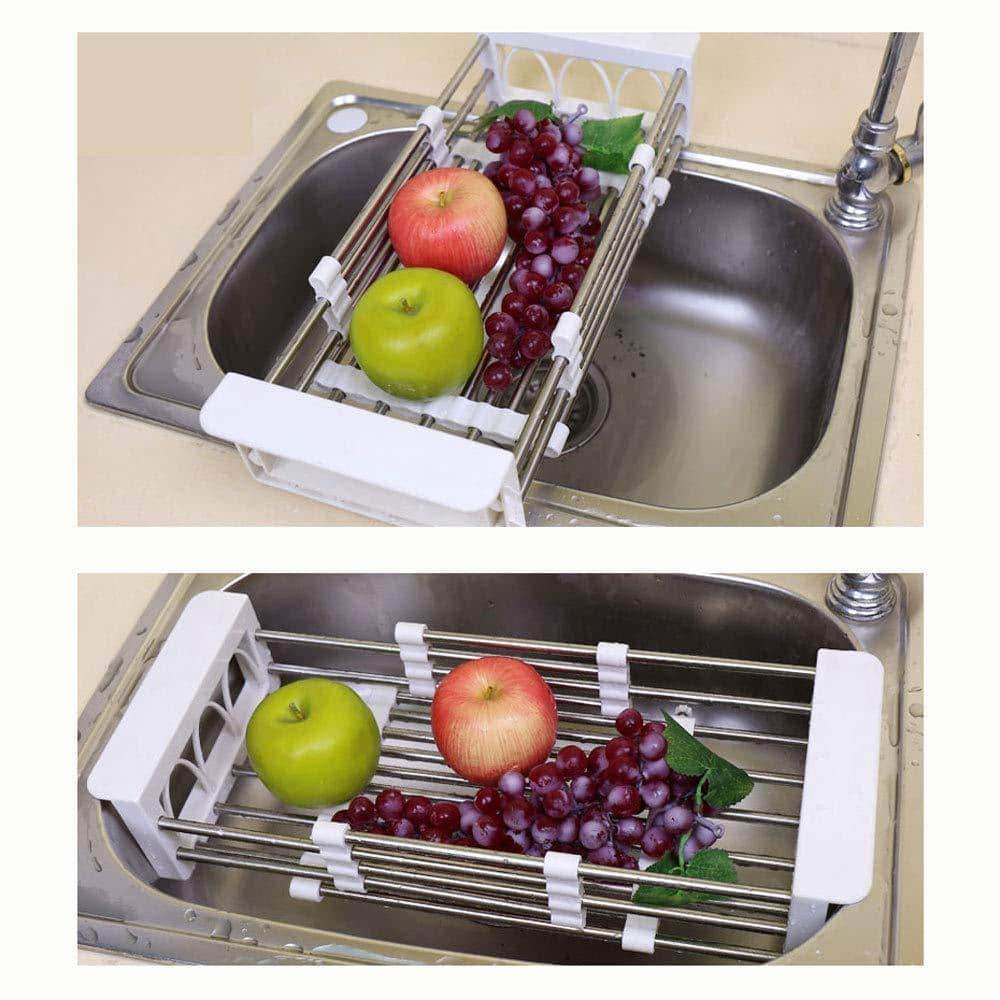 European Stainless Steel Sink Drain Rack Storage Rack, Kitchen Sink Put Dish Rack Tableware Dish Rack Shelf Kitchen Storage