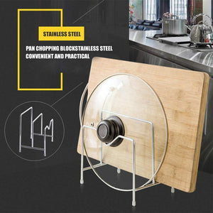 Discover stainless steel pot rack kitchen chopping board lid pot pan storage shelf drain tableware shelves cooking tools holder 1