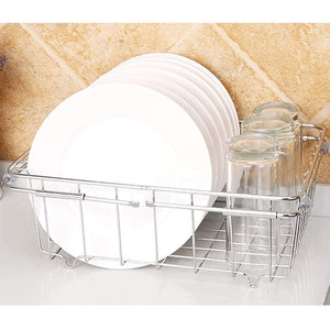 Selection jinpai stainless steel kitchen sink rack drain basket retractable fruit and vegetable dishes storage basket drain rack
