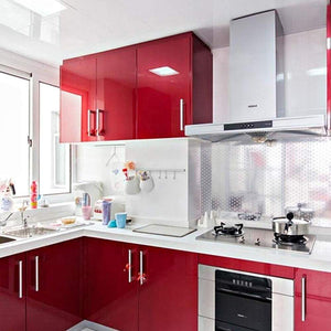 Shop here yenhome 24 x 393 glossy red self adhesive vinyl contact paper for cabinets covering kitchen table drawer and shelf liner removable self adhesive wallpaper for furniture wardrobe decor
