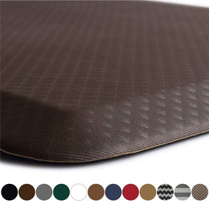 Storage kangaroo original standing mat kitchen rug anti fatigue comfort flooring phthalate free commercial grade pads waterproof ergonomic floor pad for office stand up desk 32x20 brown