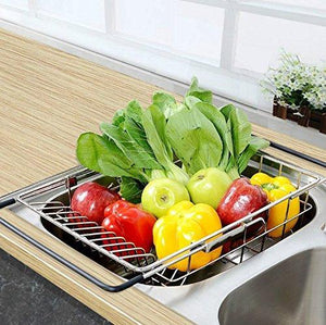 Kitchen kitchen sink 304 stainless steel drain basket wash fruit basket drain basket vegetables drainage sieve