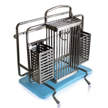 Budget lpz stainless steel multi function knife holder knife holder with chopsticks cage plate rack kitchen storage rack lpzv