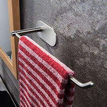 Great venagredos self adhesive towel bar hand dish towel rack stick on towel holder for bathroom kitchen no drilling