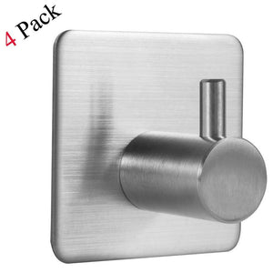 Shop innoam robe towel coat hook 3m self adhesive bathroom kitchen wall hooks brushed stainless steel 4 pack