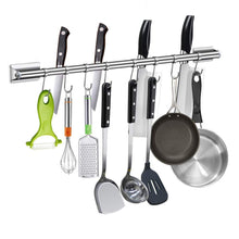 Try junyuan kitchen pot rack utensil rail cookware pan hanging rack storage organizer bathroom shelf bath towel bar holder rack with 8 sliding hooks wall mounted 304 stainless steel 19 68