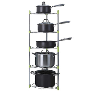 Online shopping uheng 5 tier adjustable kitchen cabinet pantry pan and pot lid organizer rack holder houseware cookware holders storage stainless steel dia 13 7 x h 38 5