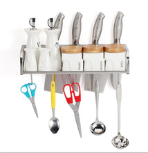 Selection stainless steel kitchen shelf seasoning shelves wall hanging spice holder multifunction kitchen and bathroom pendant size d