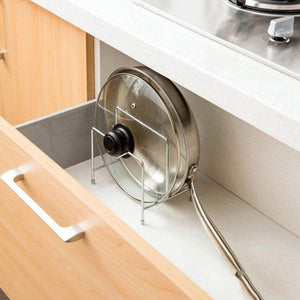 Discover the best stainless steel pot rack kitchen chopping board lid pot pan storage shelf drain tableware shelves cooking tools holder 1